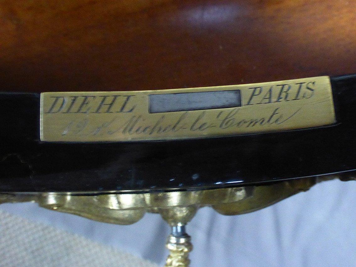 Table En Marqueterie Boulle Signée Diehl Paris -photo-4