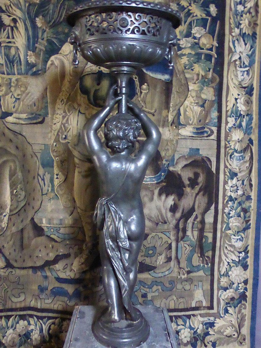 Paire De Statues En Fonte XIX-photo-3