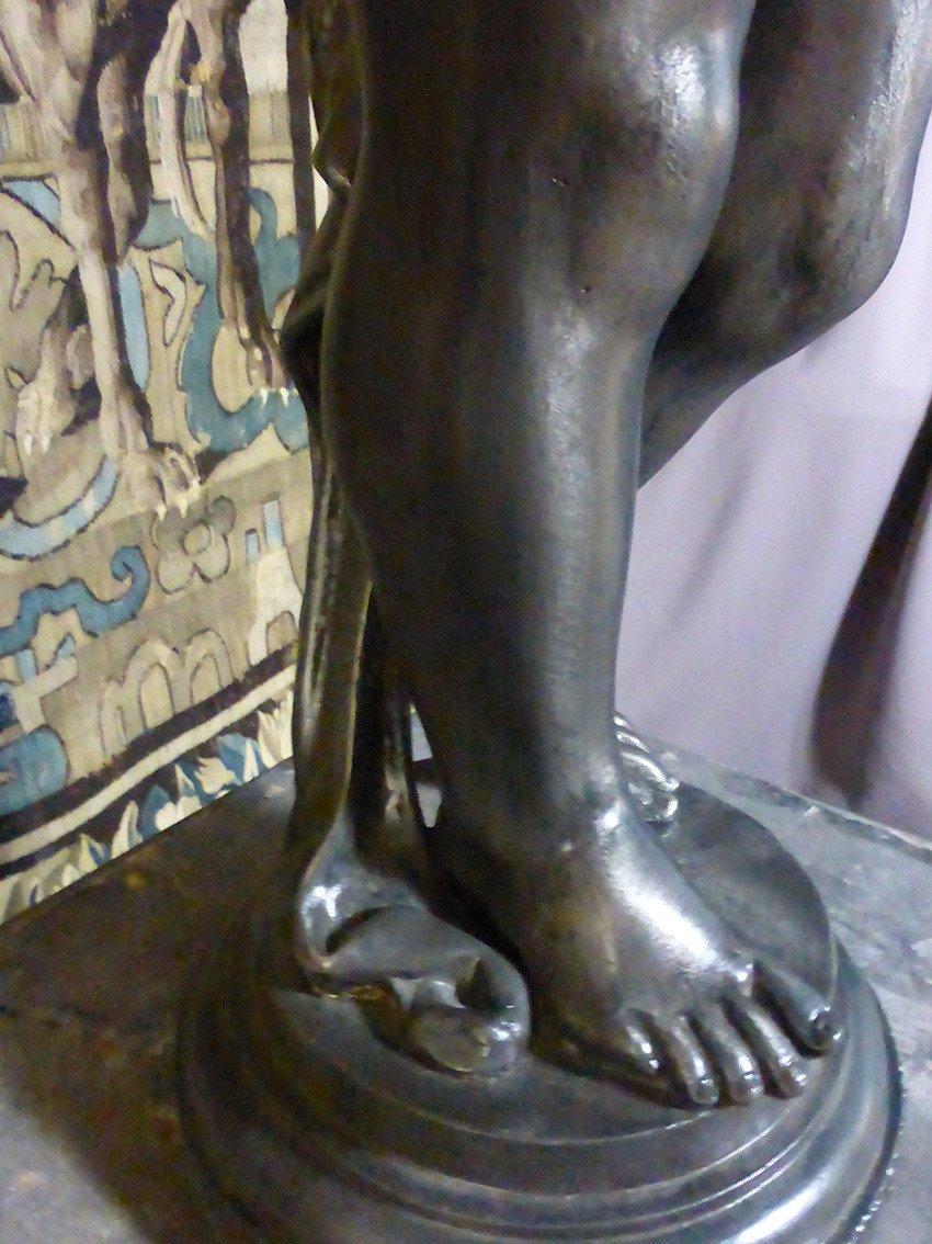 Paire De Statues En Fonte XIX-photo-6