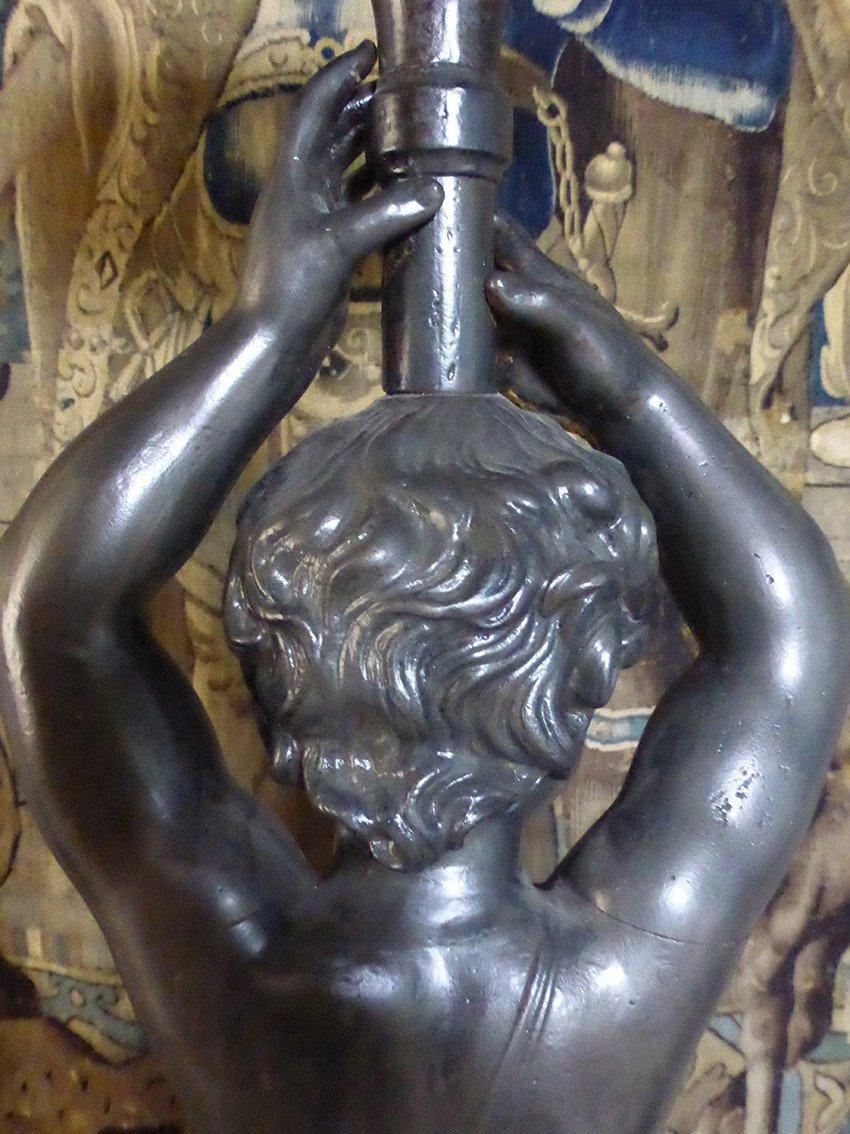 Paire De Statues En Fonte XIX-photo-7