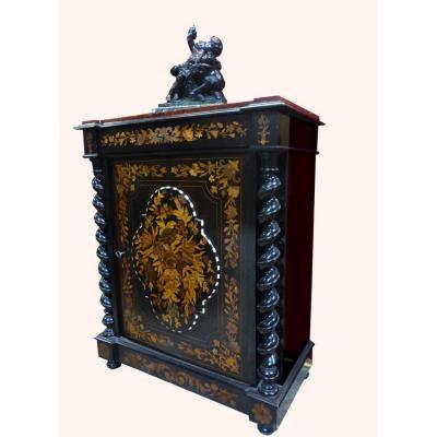 Buffet meuble d'appui marqueté Napoléon III