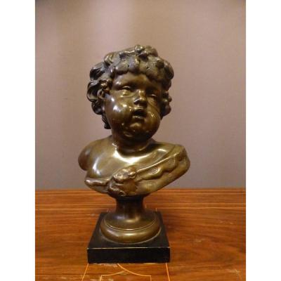 Bacchus En Bronze d'Après Moreau