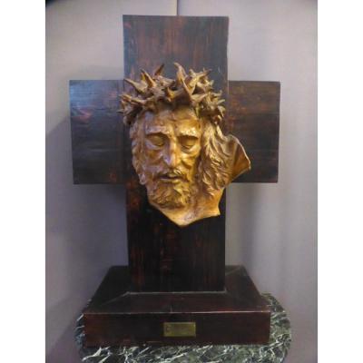 Tête de Christ signée Albert Figay ( 1907-2004 )