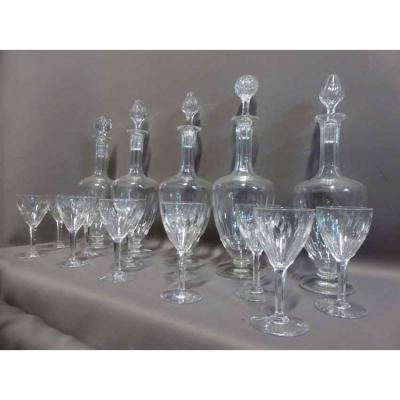 50 Glasses Of Service And Crystal Decanter 6