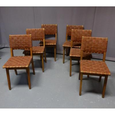 6 Chaises Jens Risom