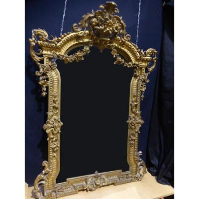 Important Miroir De Chateau époque XIX