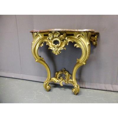 Console Napoléon III Dans Le Goût Louis XV