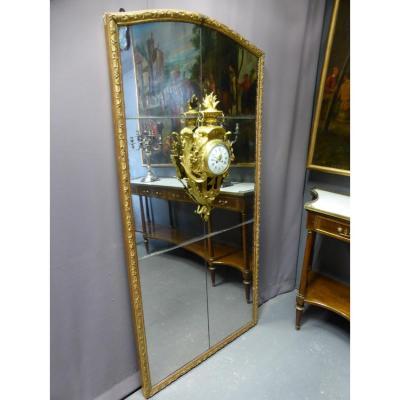 Important Miroir Avec Cartel, Epoque Louis XVI