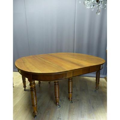 Très Grande Table En Noyer ( 4,40 M ) XIX