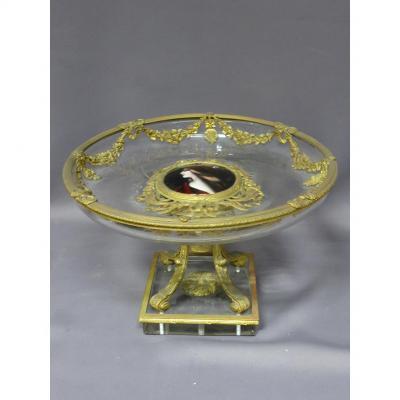 Coupe En Cristal Et Bronze XIX