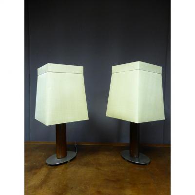 Paire De Lampes XX