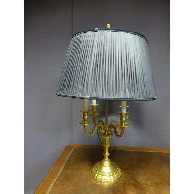 Grande Lampe Bouillotte En Bronze Doré (0,90 m)
