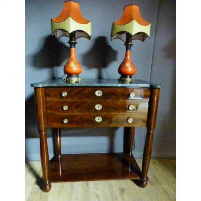 Mahogany Drawer Console