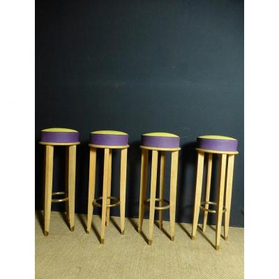 Suite Of Four Bar Stools
