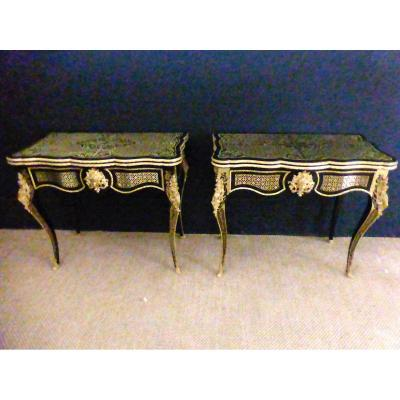 Pair Of Console Tables XIX