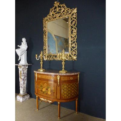 Half Moon Commode In Marquetry