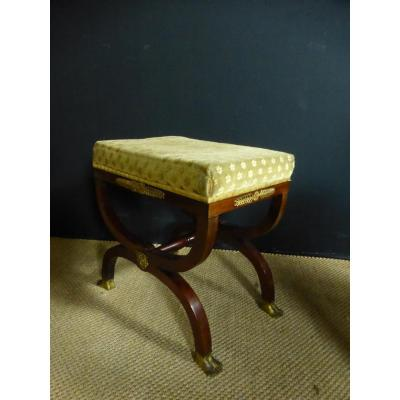 Curule Empire Style Stool