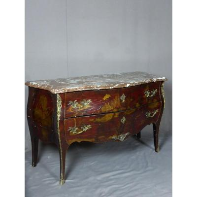 Commode Style Louis XV En Laque