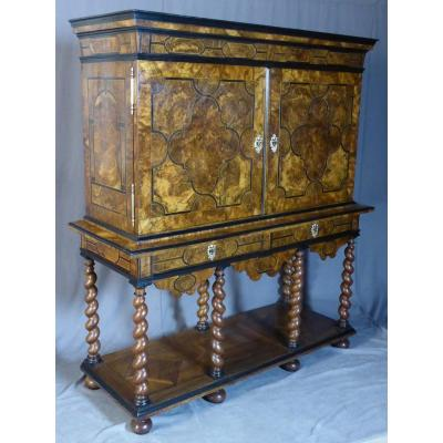 18th Century Marquetry Cabinet Dauphinois Work
