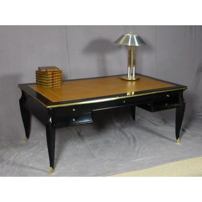 Large Desk In Blackened Oak XX