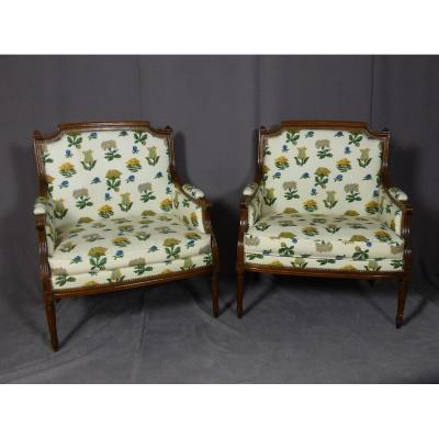 Pair Of Marquesas Armchairs End XIX