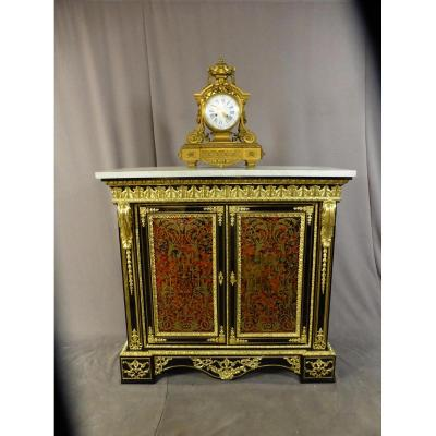Middle Gilt Bronze Clock From Lemerle-charpentier In Paris
