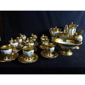 Service à Café Et Thé En Porcelaine XIX