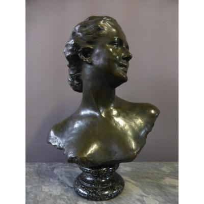 Sculpture En Bronze Signée Noémie Debienne ( XIX-xx )