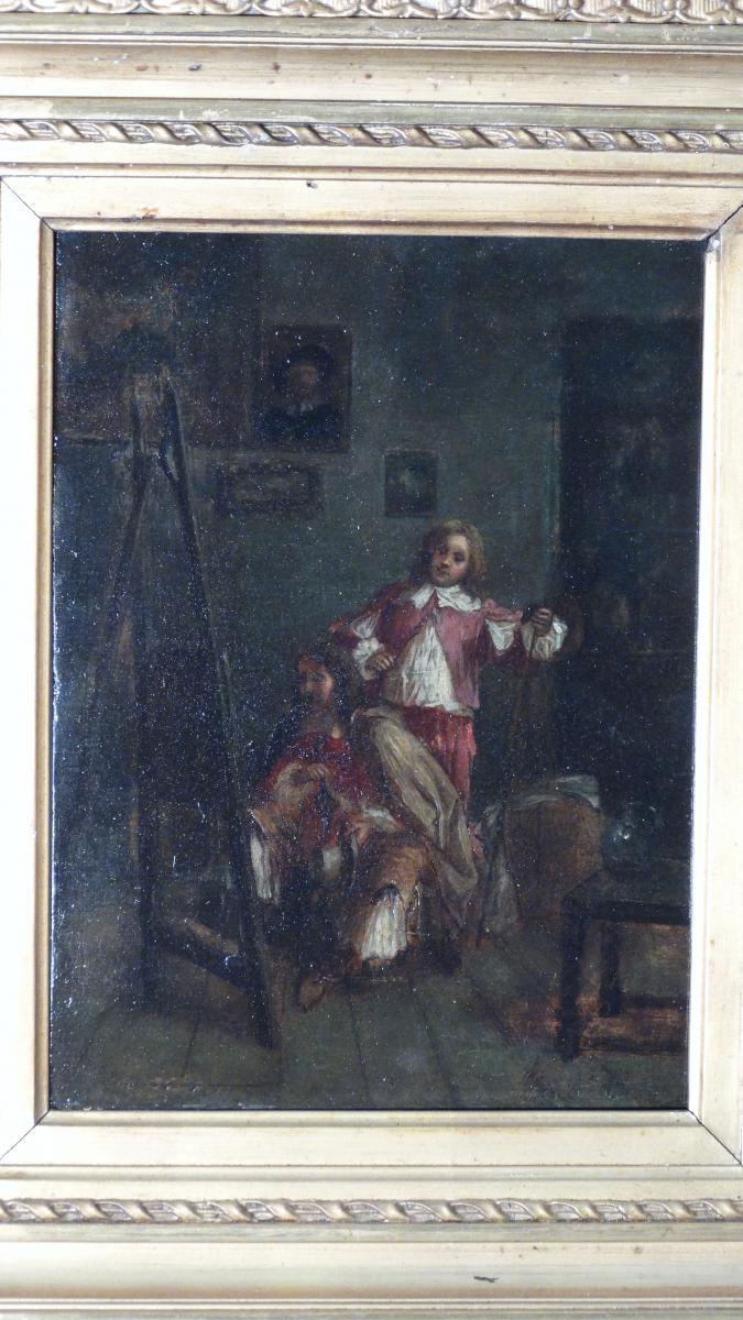 l'atelier du peintre par Meissonier Jean louis ernest-photo-2