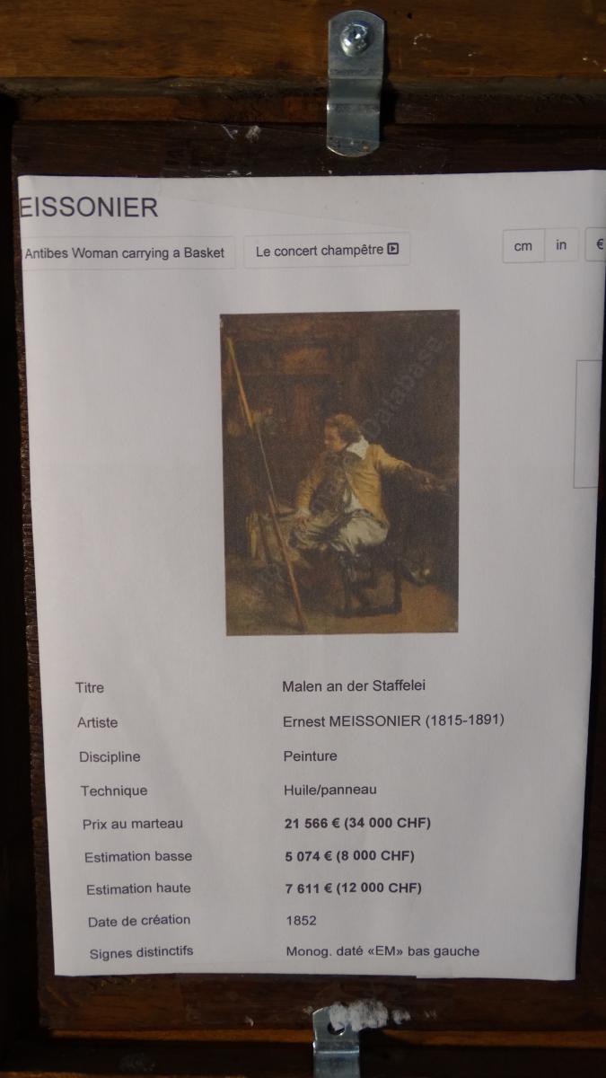 l'atelier du peintre par Meissonier Jean louis ernest-photo-4