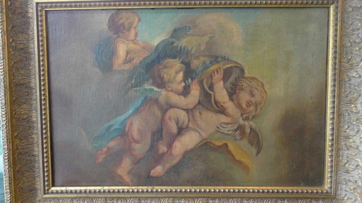 """""""la Danse des angelots"""" école Française"""