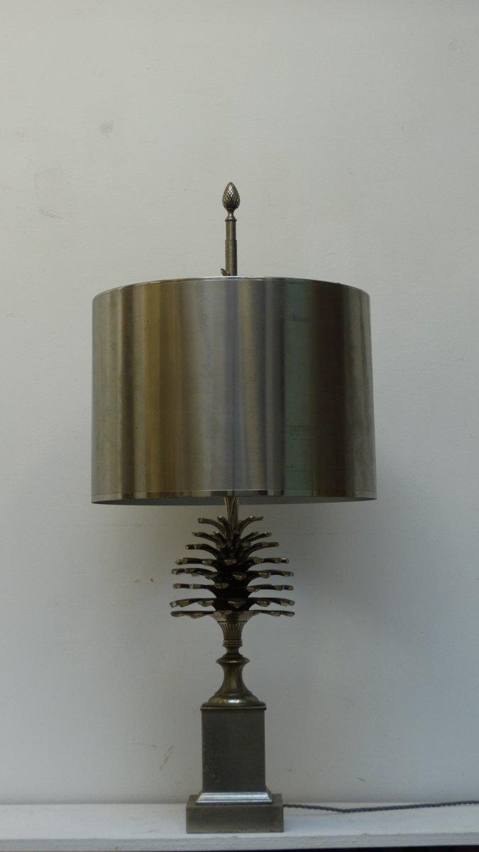"""Lampe maison Charles années 70 modèle """"Pomme de pins"""""""