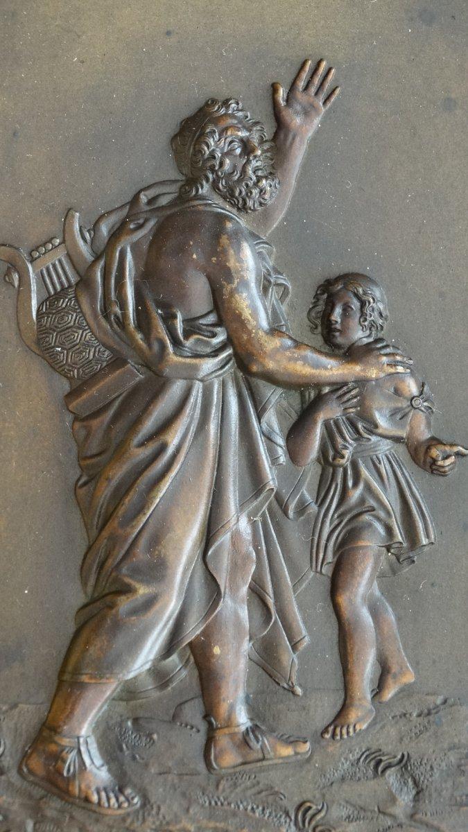 Paire de cadres en bronze à sujets Mythologiques-photo-3