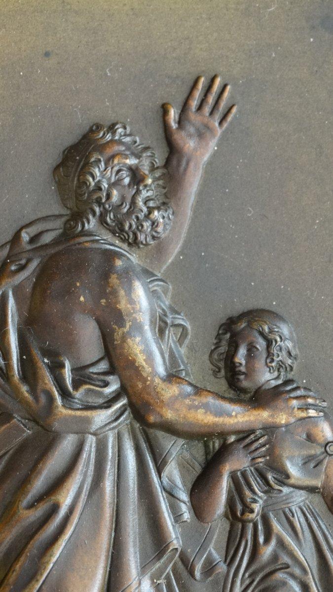 Paire de cadres en bronze à sujets Mythologiques-photo-4