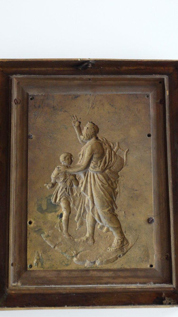 Paire de cadres en bronze à sujets Mythologiques-photo-5