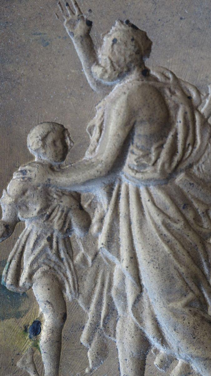 Paire de cadres en bronze à sujets Mythologiques-photo-6