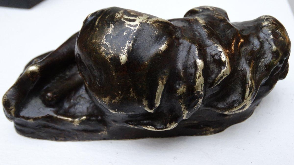 """""""esquisse d'une jeune femme endormie"""" par Jean-Baptiste  Carpeaux-photo-3"""
