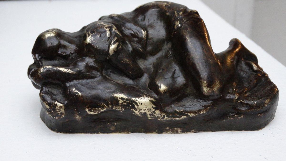 """""""esquisse d'une jeune femme endormie"""" par Jean-Baptiste  Carpeaux-photo-1"""
