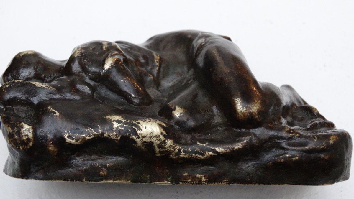 """""""esquisse d'une jeune femme endormie"""" par Jean-Baptiste  Carpeaux-photo-5"""