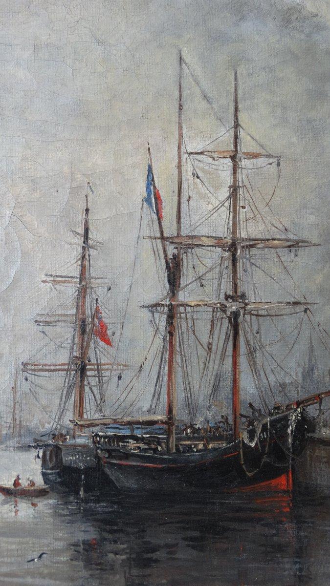 """""""Le port de Boulogne sur mer""""  au 19ème siècle -photo-1"""