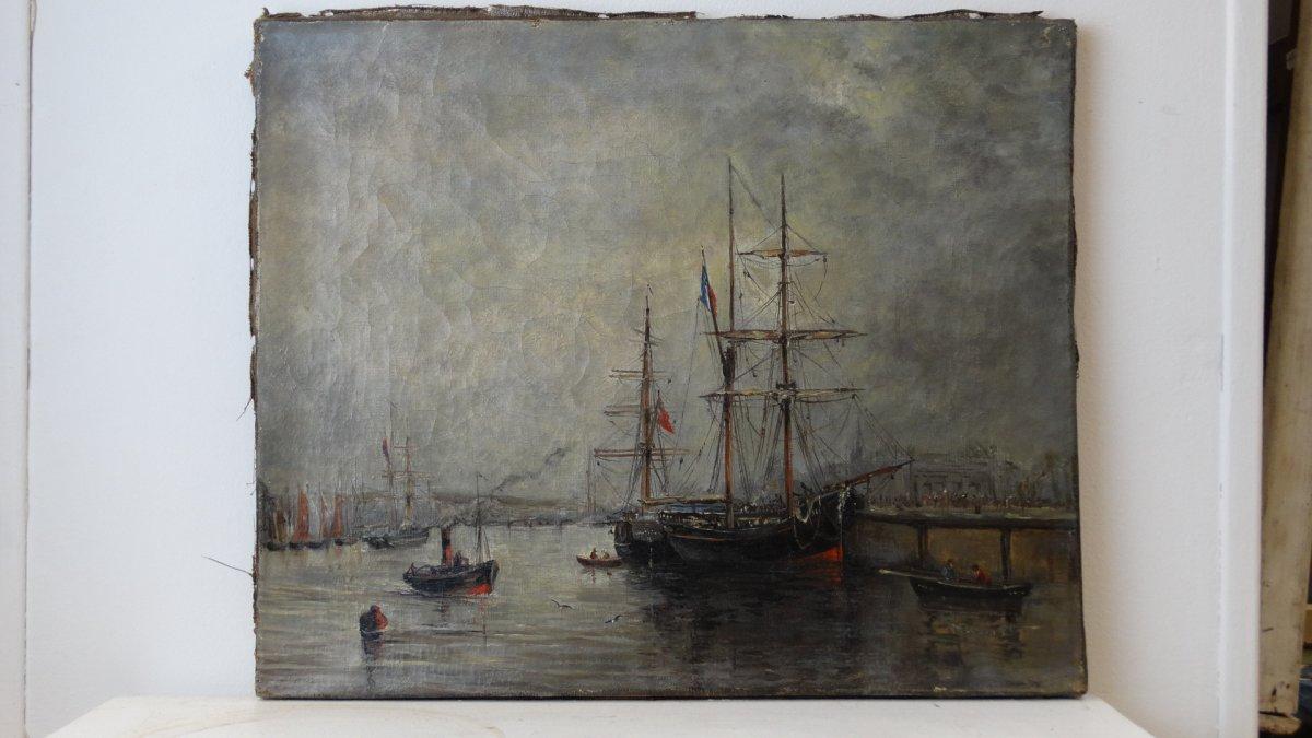 """""""Le port de Boulogne sur mer""""  au 19ème siècle"""