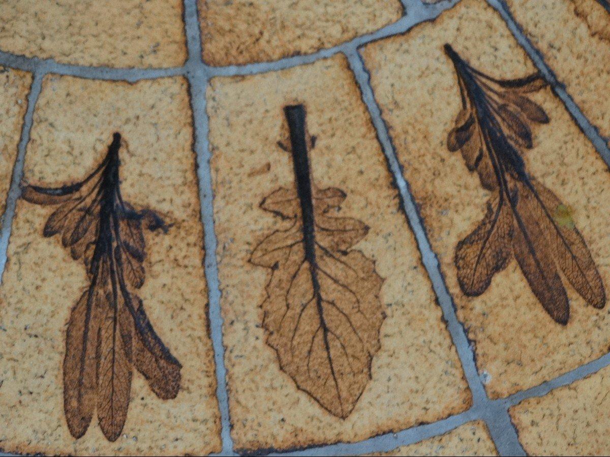 """Table de salon """"herbier"""" par Roger Capron-photo-4"""