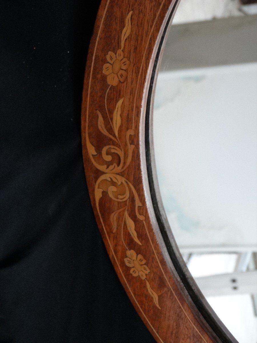 """""""miroir ovale en marqueterie""""-photo-2"""