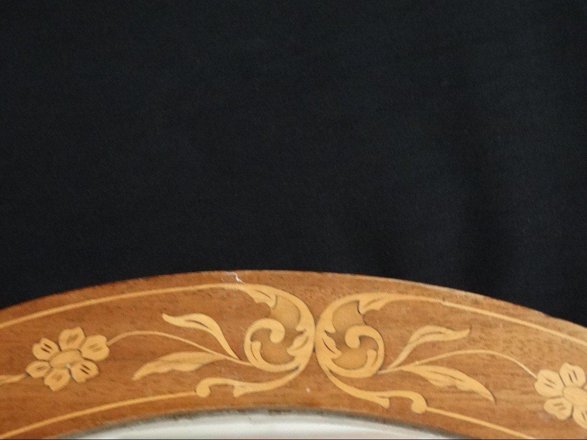 """""""miroir ovale en marqueterie""""-photo-3"""