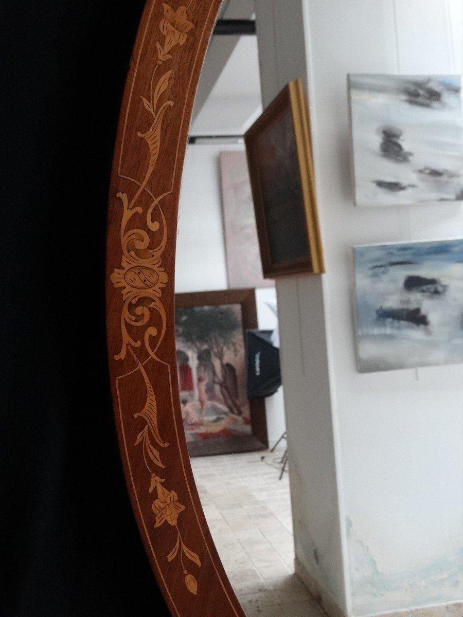 """""""miroir ovale en marqueterie""""-photo-4"""