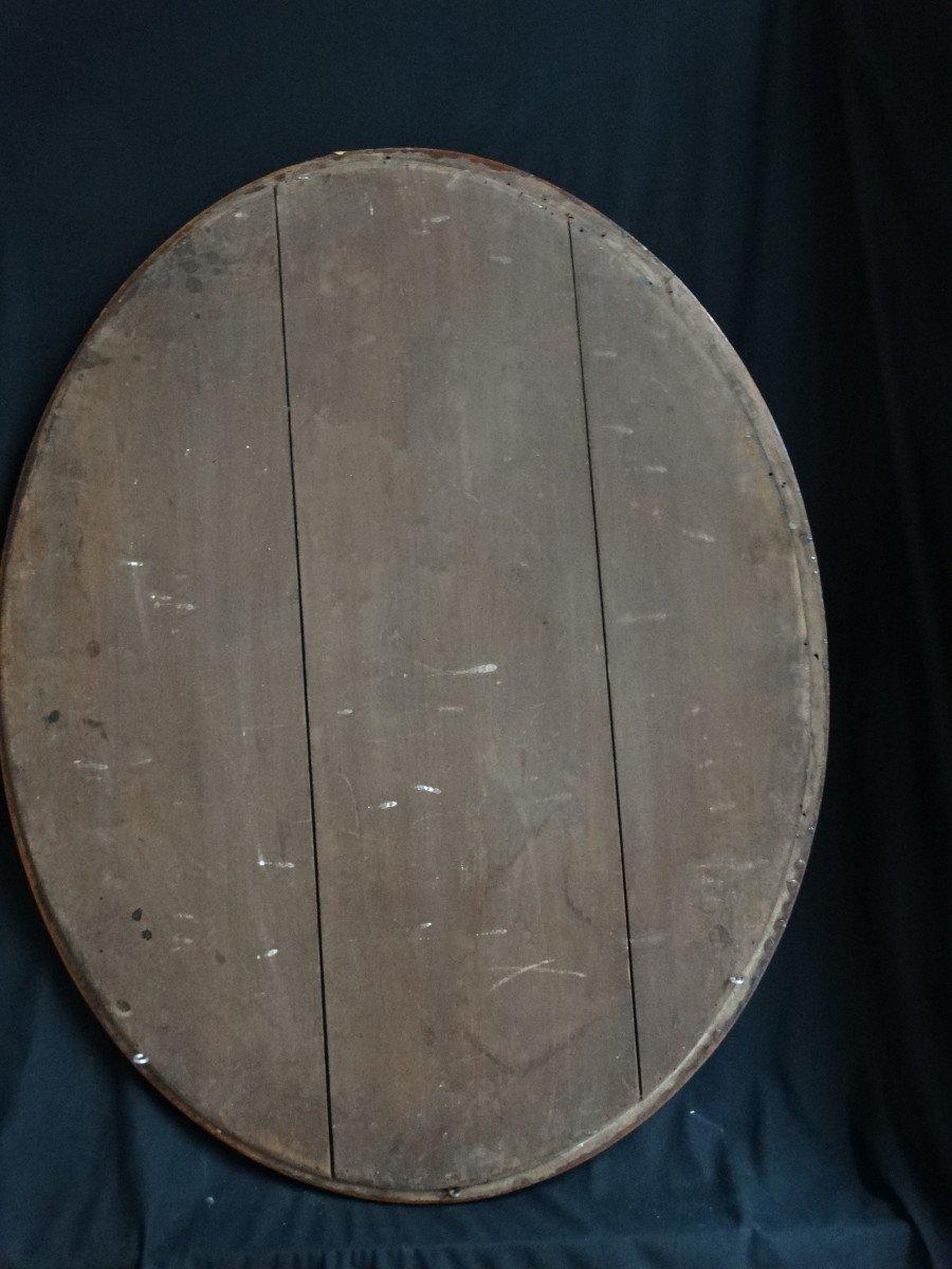 """""""miroir ovale en marqueterie""""-photo-1"""