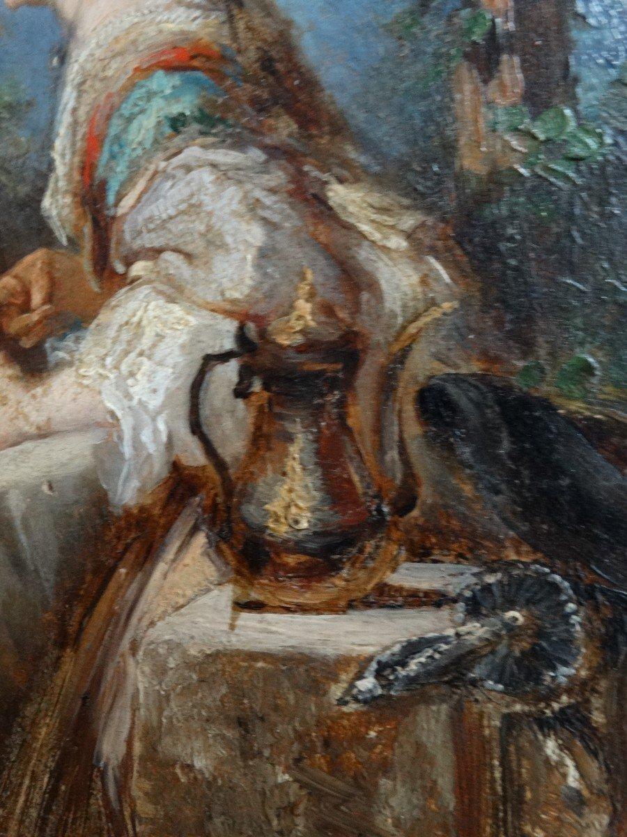 """""""Les amateurs de thé"""" , scène de genre du 19ème -photo-3"""