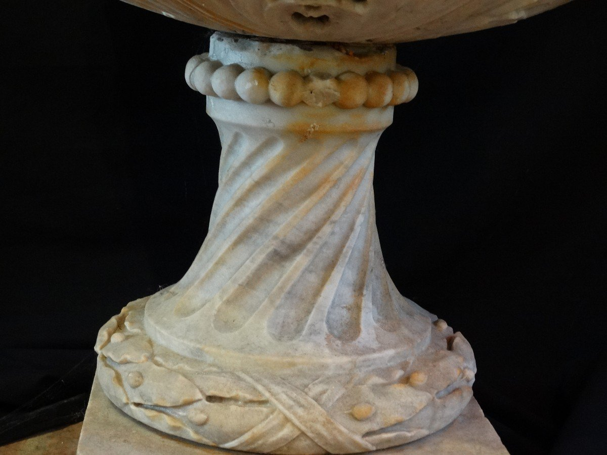 Vasque de parc en marbre de Carrare-photo-1