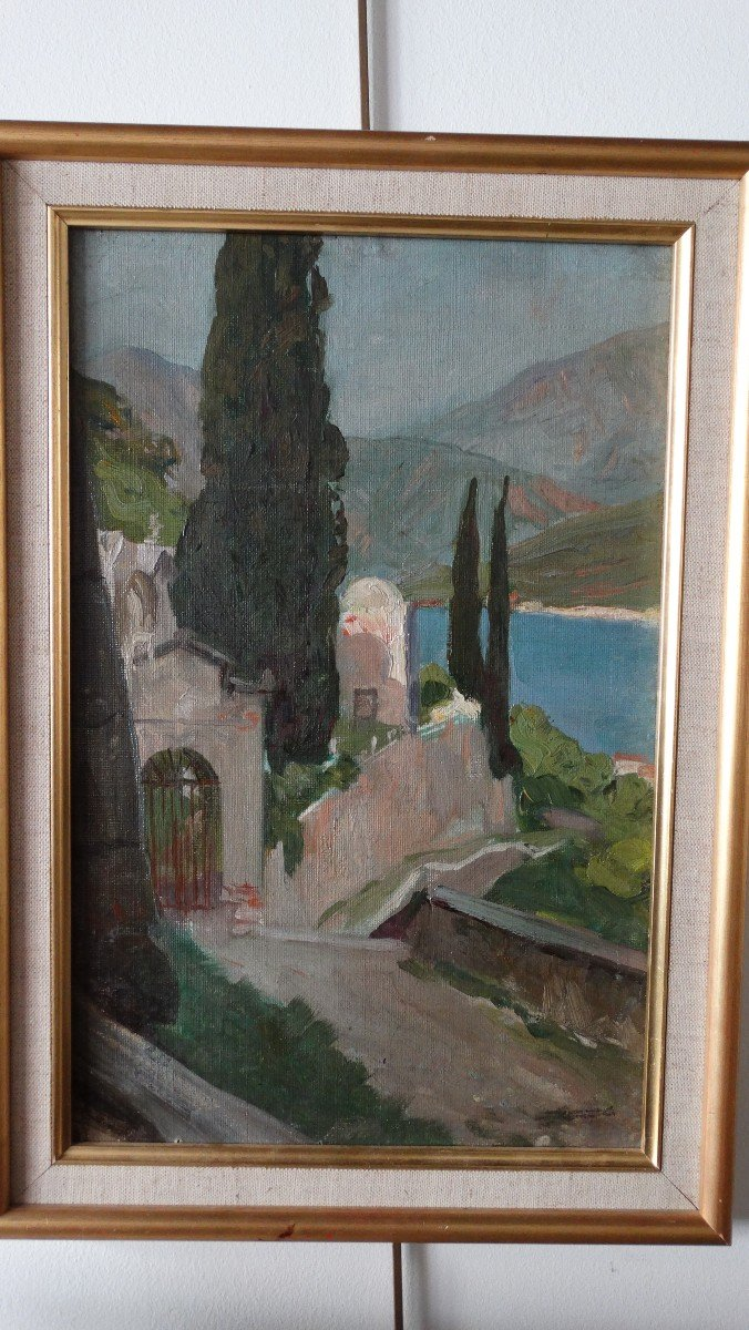 """""""Le lac de Côme """" par Lucien Jonas"""