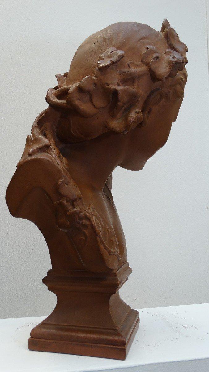 """""""l'espiègle"""" buste en  plâtre d'après JB Carpeaux-photo-4"""